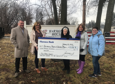 Donation presentation to Harmony House